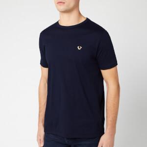 True Religion Men's Metal Horseshoe Crew T-Shirt - Navy