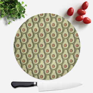 Cooking Avocado Pattern Round Chopping Board