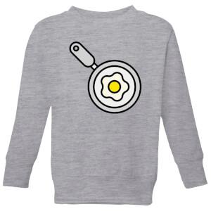 Cooking Fried Egg In A Pan Kids' Sweatshirt