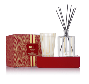 NEST Fragrances Festive Holiday Candle and Diffuser Set