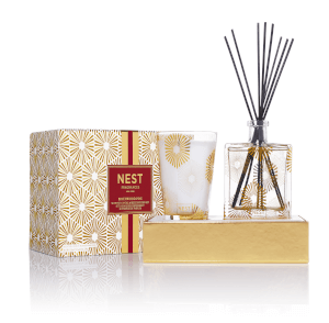 NEST Fragrances Festive Birchwood Pine Candle and Diffuser Set
