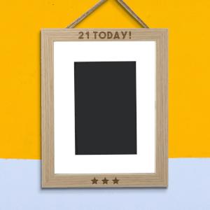21 Today! Portrait Frame