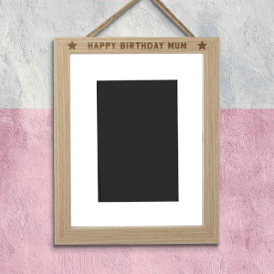 Happy Birthday Mum Portrait Frame
