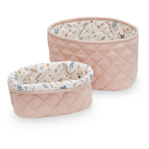 Cam Cam Quilted Storage Baskets - Blossom Pink (Set of 2)