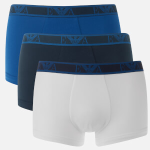 Emporio Armani Men's 3 Pack Boxer Shorts - Black/White/Blue