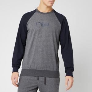 Emporio Armani Men's Raglan Sweatshirt - Grey/Blue