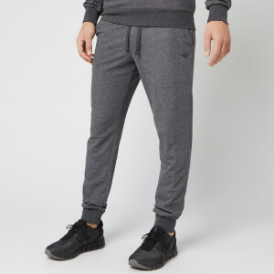 Emporio Armani Men's Cuffed Pants - Grey/Blue