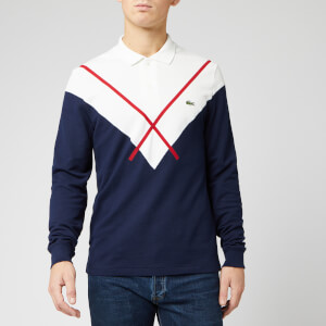 Lacoste Men's Long Sleeve Made in France Polo Shirt - Marine