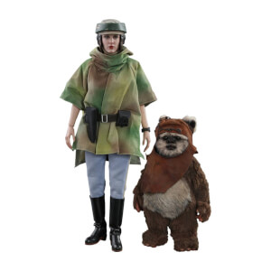 Hot Toys Star Wars Episode VI Movie Masterpiece Action Figure 2-Pack 1/6 Princess Leia & Wicket 15-27cm