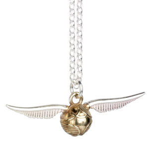 Harry Potter Sterling Silver Golden Snitch Necklace