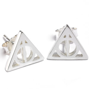 Harry Potter Sterling Silver Deathly Hallows Stud Earrings