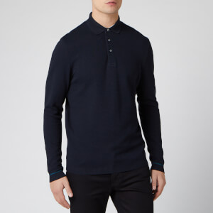 Ted Baker Men's Terned Long Sleeve Cotton Top - Navy