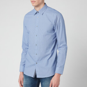 Ted Baker Men's Femme Cotton Geo Print Long Sleeve Shirt - Blue