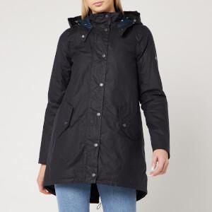 Barbour Women's Oceanfront Wax Jacket - Royal Navy