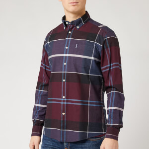 Barbour Men's Cannich Long Sleeved Shirt - Merlot