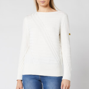 Barbour International Women's Relay Knit Jumper - Off White