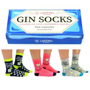 Cockney Spaniel Sock Gift Box - Gin