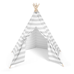 Snüz Kids Teepee Play Tent - Grey Stripe