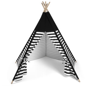 Snüz Kids Teepee Play Tent - Black Stripe