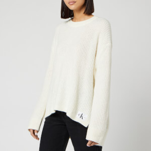 Calvin Klein Jeans Women's Wool Blend Jumper - Winter White