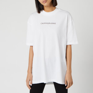 Calvin Klein Jeans Women's Institutional High Density Tunic Top - Bright White