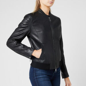 BOSS Hugo Boss Women's Jamegan Leather Jacket - Black
