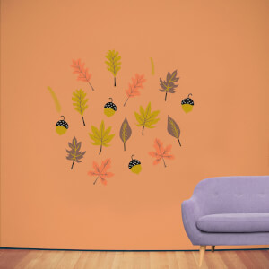 Autumn Leaves Wall Art Sticker Pack