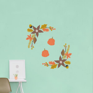 Autumn Leaves Frame Wall Art Sticker Pack