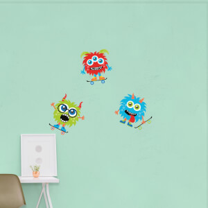 Skater Monster Pack 1 Wall Art Sticker Pack