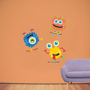 Skater Monster Pack 2 Wall Art Sticker Pack