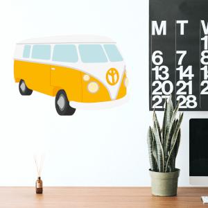 Yellow Van Wall Art Sticker