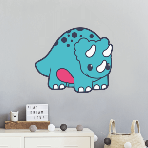 Cartoon Triceratops Wall Art Sticker