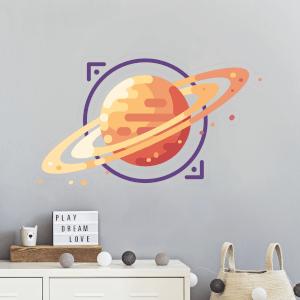 Saturn Wall Art Sticker