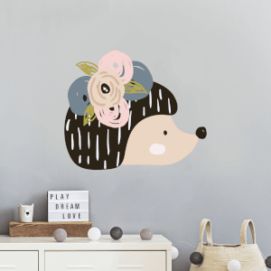 Hedgehog Wall Art Sticker
