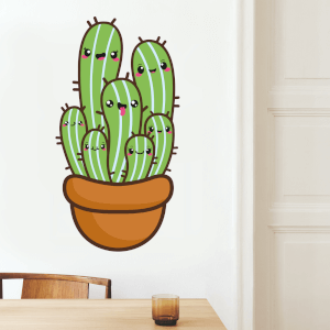 Cactus In A Pot Wall Art Sticker