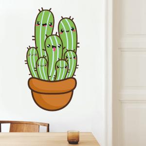 Cactus In A Pot Wall Art Sticker