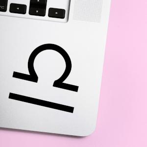 Libra Symbol Laptop Sticker