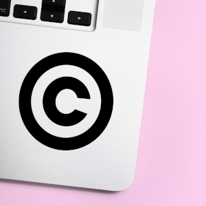 Copyright Logo Laptop Sticker