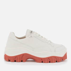 Bronx Women's Jaxstar Leather Chunky Trainers - Off White/Rust