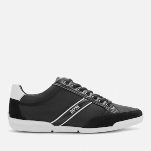 BOSS Men's Saturn Low Profile Nylon/Suede Trainers - Black