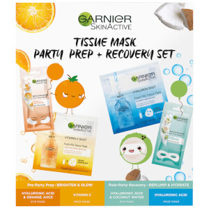 Garnier Tissue Mask Party Prep and Recovery Set (Worth £14.95)