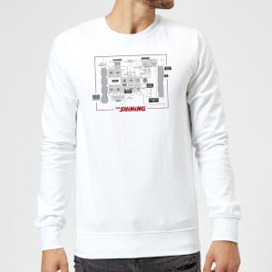 The Shining Floor Plan Sweatshirt - White