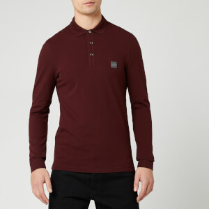 BOSS Men's Passerby Polo Long Sleeve Shirt - Red
