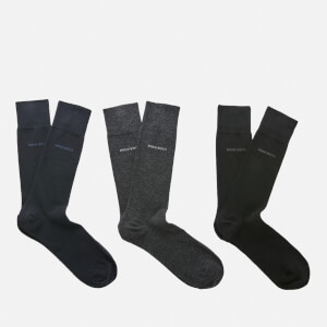 BOSS Hugo Boss Men's 3 Pack Gift Set - Black/Navy/Charcoal