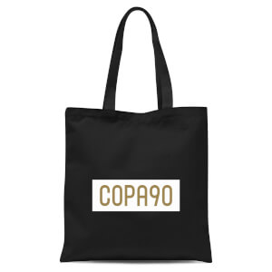 White/Gold Tote Bag - Black