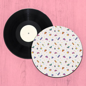3D 90's Shape Pattern Record Player Slip Mat