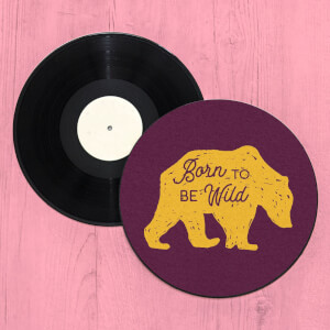 Born To Be Wild Bear Record Player Slip Mat