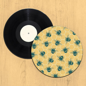 Bumble Bee Hive Record Player Slip Mat