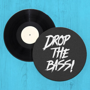 Drop The Bass Record Player Slip Mat