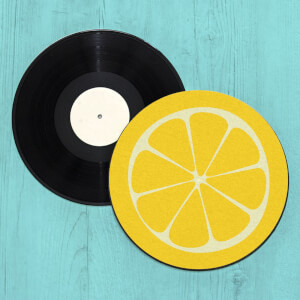Lemon Record Player Slip Mat